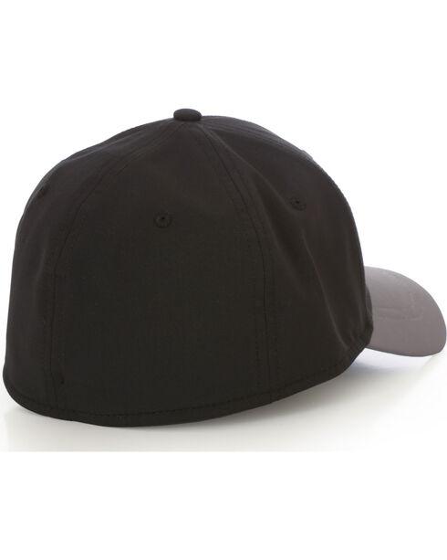 Wrangler Men's Color Block Wrangler Logo Ball Cap, Black, hi-res