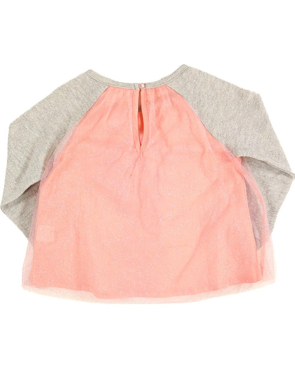 Shyanne® Toddler Girls' Horse Glitter Tulle Top, Pink, hi-res