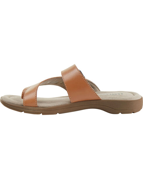 Eastland Women's Light Tan Tahiti II Thong Sandals  , Tan, hi-res