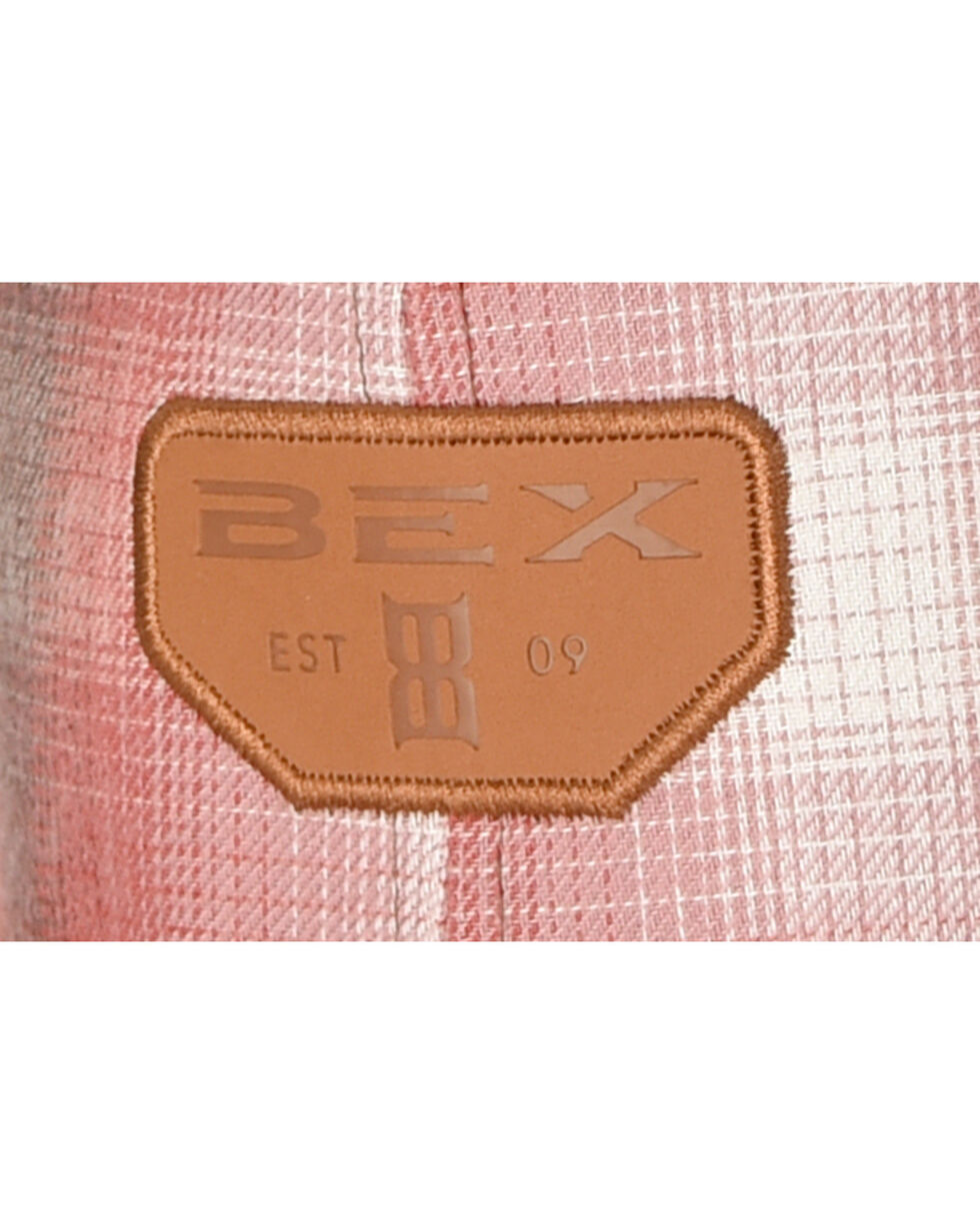 BEX Men's Plaid Mesh Ball Cap, Red, hi-res