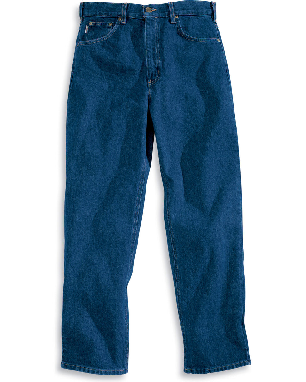 Carhartt Men's Traditional Fit Straight Leg Work Jeans, Blue, hi-res