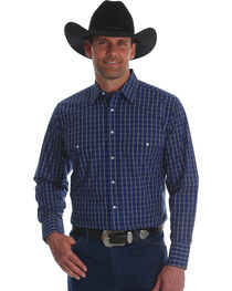 Wrangler Men's Wrinkle Resist Plaid Long Sleeve Shirt, , hi-res