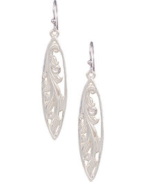 Montana Silversmiths Western Marquis Grace Earrings, , hi-res