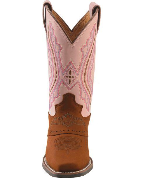 Justin Kid's Stampede Western Boots, Brown, hi-res