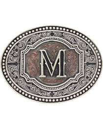 Montana Silversmiths Initial M Belt Buckle, , hi-res