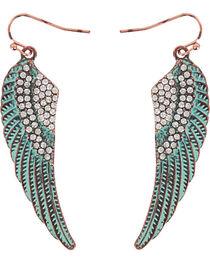 Shyanne® Women's Turquoise Angel Wing Earrings, , hi-res