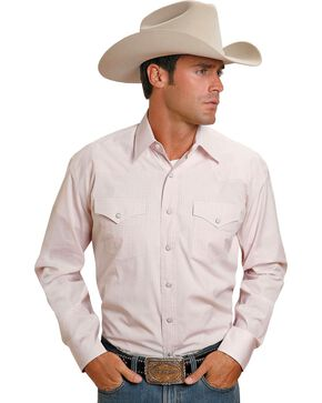 Stetson Snap Check Shirt, Pink, hi-res