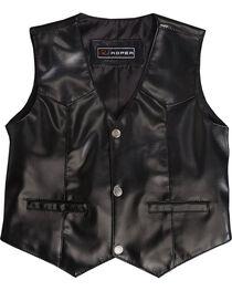 Roper Boy's Suede Leather Vest, , hi-res