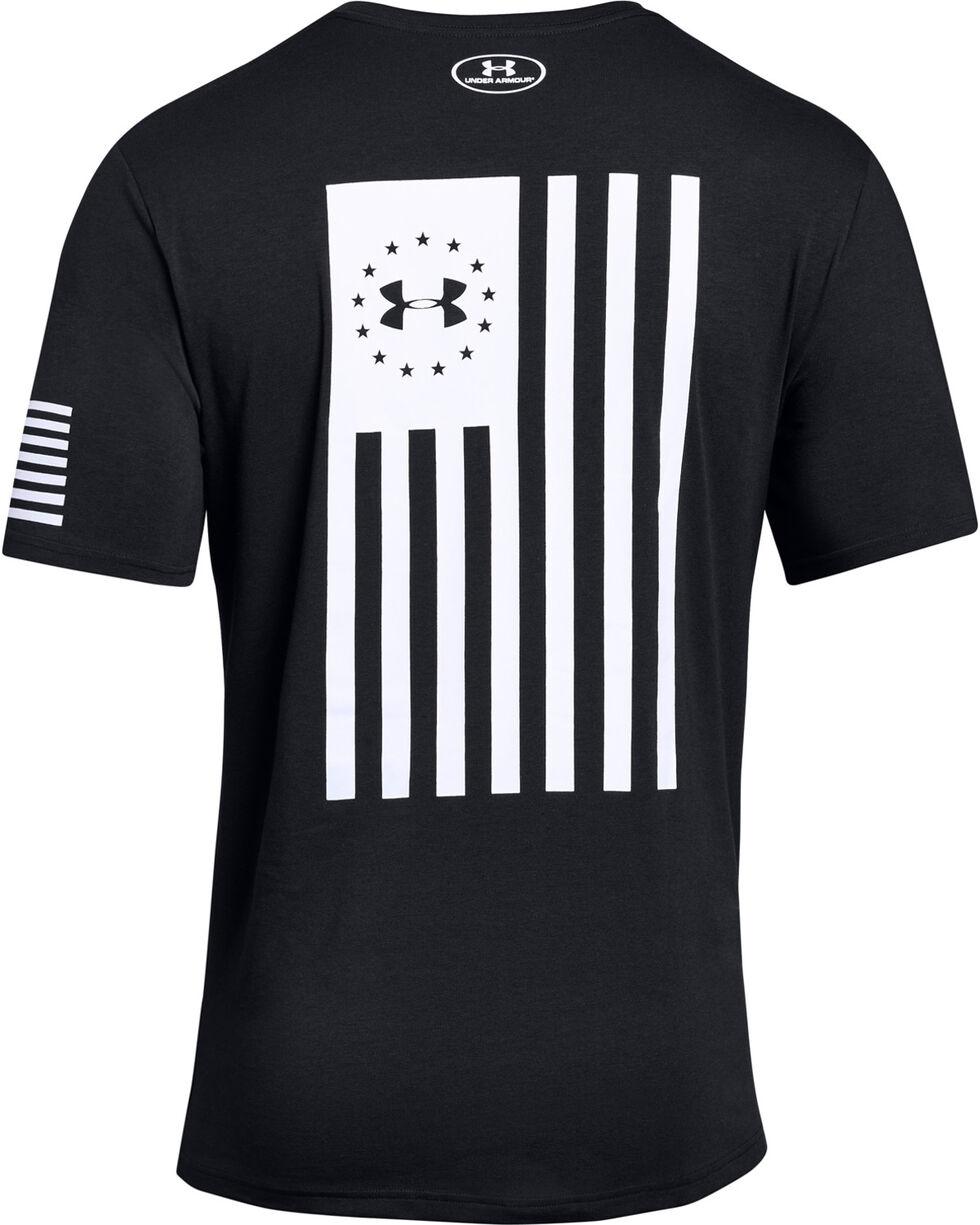 Under Armour Men's Black Freedom Flag Bold Tee , Black, hi-res