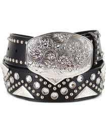 Shyanne Women's Filigree and Rhinestones Western Belt, , hi-res
