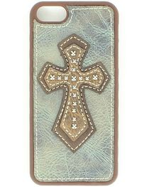 Leather Cross Applique iPhone 5 Case, , hi-res