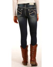 Rock & Roll Cowgirl Girls' Dark Jeans - Skinny , , hi-res