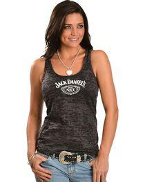 Jack Daniel's Black Burnout Racerback Tank Top, , hi-res