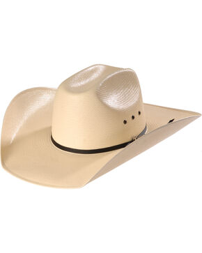 Twister Shantung Straw Cowboy Hat , Natural, hi-res