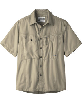 Mountain Khakis Men's Truffle Trail Creek Short Sleeve Shirt , Khaki, hi-res