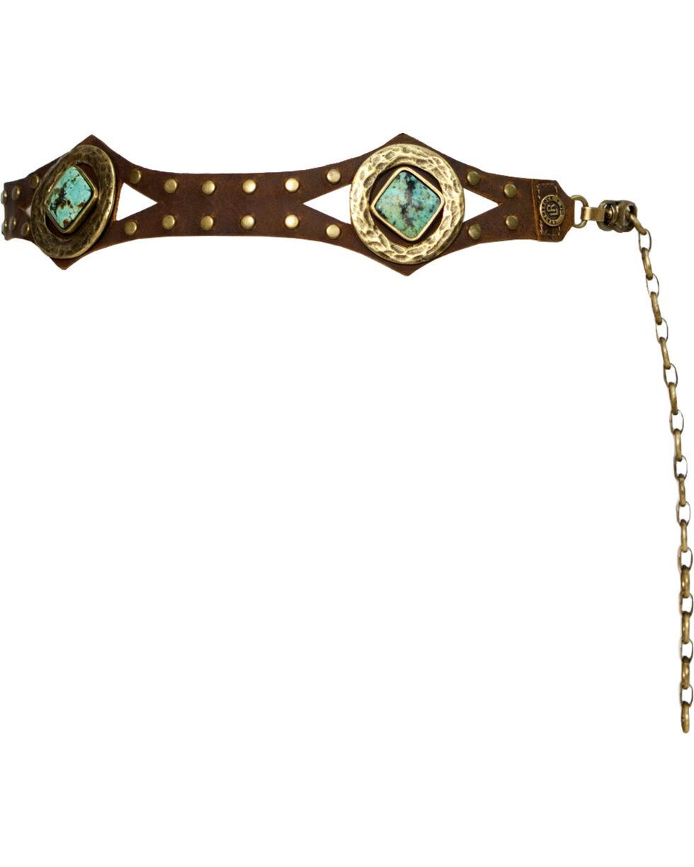 Leatherock Women's African Turquoise Concho Belt, , hi-res