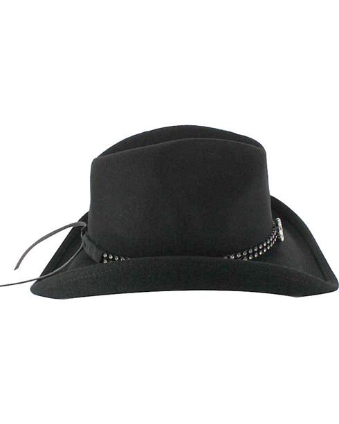 Shyanne® Girl's Wool Cowboy Hat, Black, hi-res