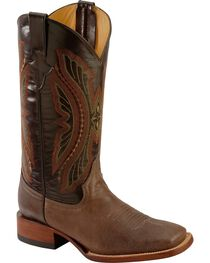 Ferrini Chocolate Distressed Kangaroo Cowboy Boots - Wide Square Toe, , hi-res