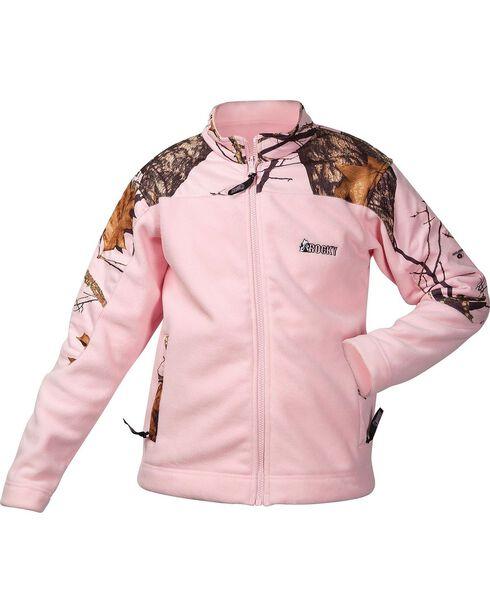Rocky Girls' Realtree Camo Fleece Jacket, Pink, hi-res