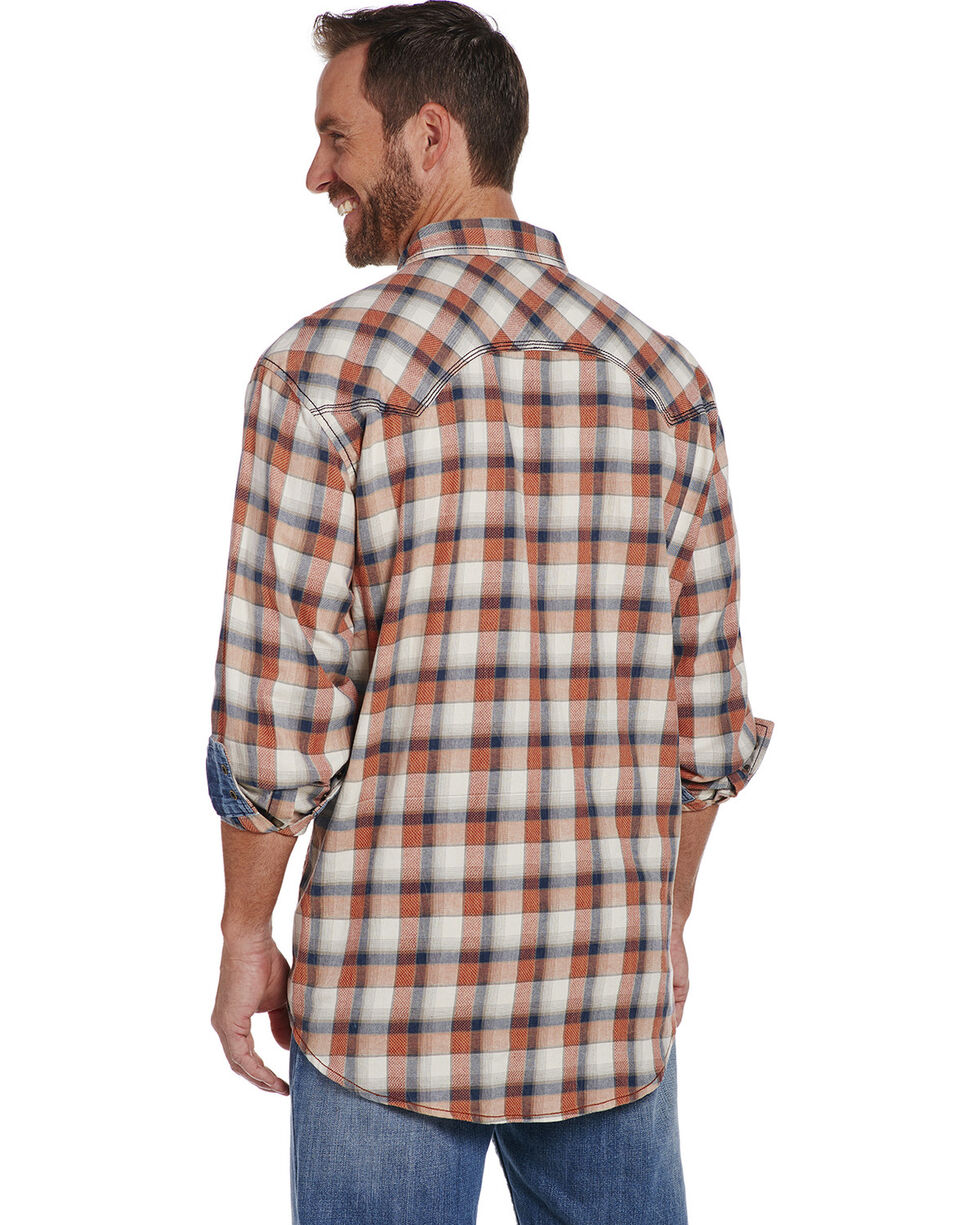Cowboy Up Men's Long Sleeve Vintage Wash Plaid Snap Shirt, Multi, hi-res