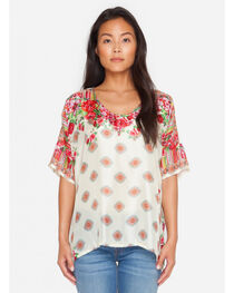 Johnny Was Women's Rose Lace Top, , hi-res
