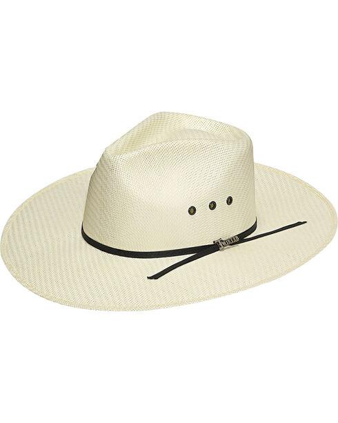 Twister Men's Indiana Straw Cowboy Hat, Natural, hi-res