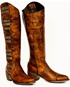 "Old Gringo Women's Elina 18"" Western Fashion Boots, Brass, hi-res"