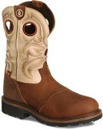 Tony Lama Men's 3R Waterproof Steel Toe Western Work Boots, , hi-res