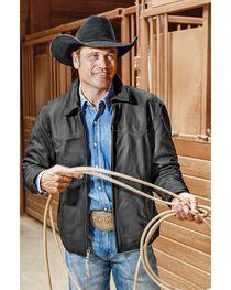 STS Ranchwear Men's Vegas Black Leather Jacket - Big & Tall - 2XL-3XL, , hi-res
