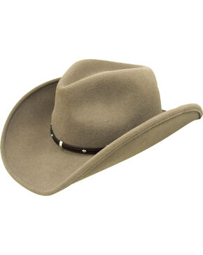 Wind River by Bailey Rider Khaki Western Hat, Khaki, hi-res