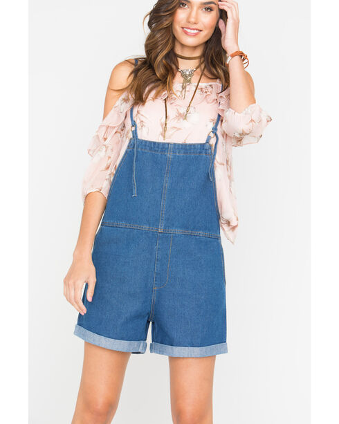 Sage the Label Women's Baby Overalls , Indigo, hi-res
