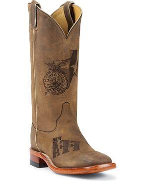 Justin Men's FFA Western Boots, Tan, hi-res