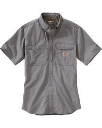 Carhartt Men's Double Pocket Short Sleeve Work Shirt, , hi-res