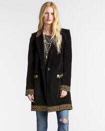 MM Vintage Women's Black Electric Lady Embroidered Blazer , , hi-res