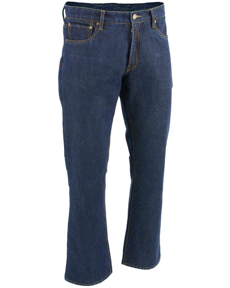 "Milwaukee Leather Men's Blue 32"" Aramid Infused 5 Pocket Loose Fit Jeans, Blue, hi-res"