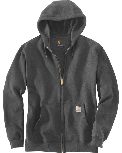 Carhartt Men's Midweight Hooded Zip-Front Sweatshirt, Medium Grey, hi-res