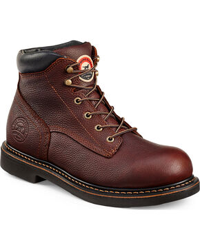 Red Wing Irish Setter Farmington Work Boots - Round Toe  , Brown, hi-res