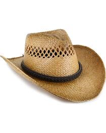 Cody James® Burnt Tan Straw Hat, , hi-res