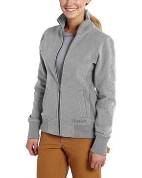 Carhartt Women's Dunlow Sweatshirt Jacket, Grey, hi-res