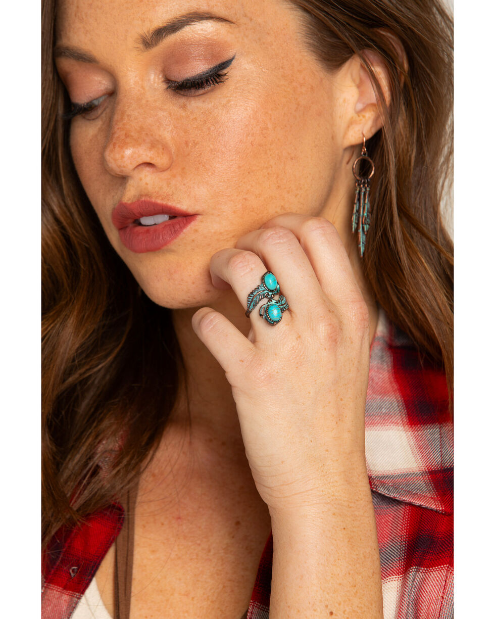 Shyanne Women's Turquoise Wrap Ring - Size 7, Turquoise, hi-res