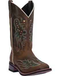 Laredo Women's Sadie Western Boots, Dark Brown, hi-res