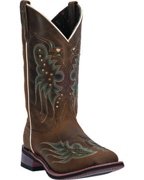 Laredo Women's Sadie Western Boots, Dark Brown, hi-res