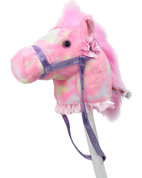 Lil' Boot Barn Kid's Rainbow Stick Horse, Pink, hi-res