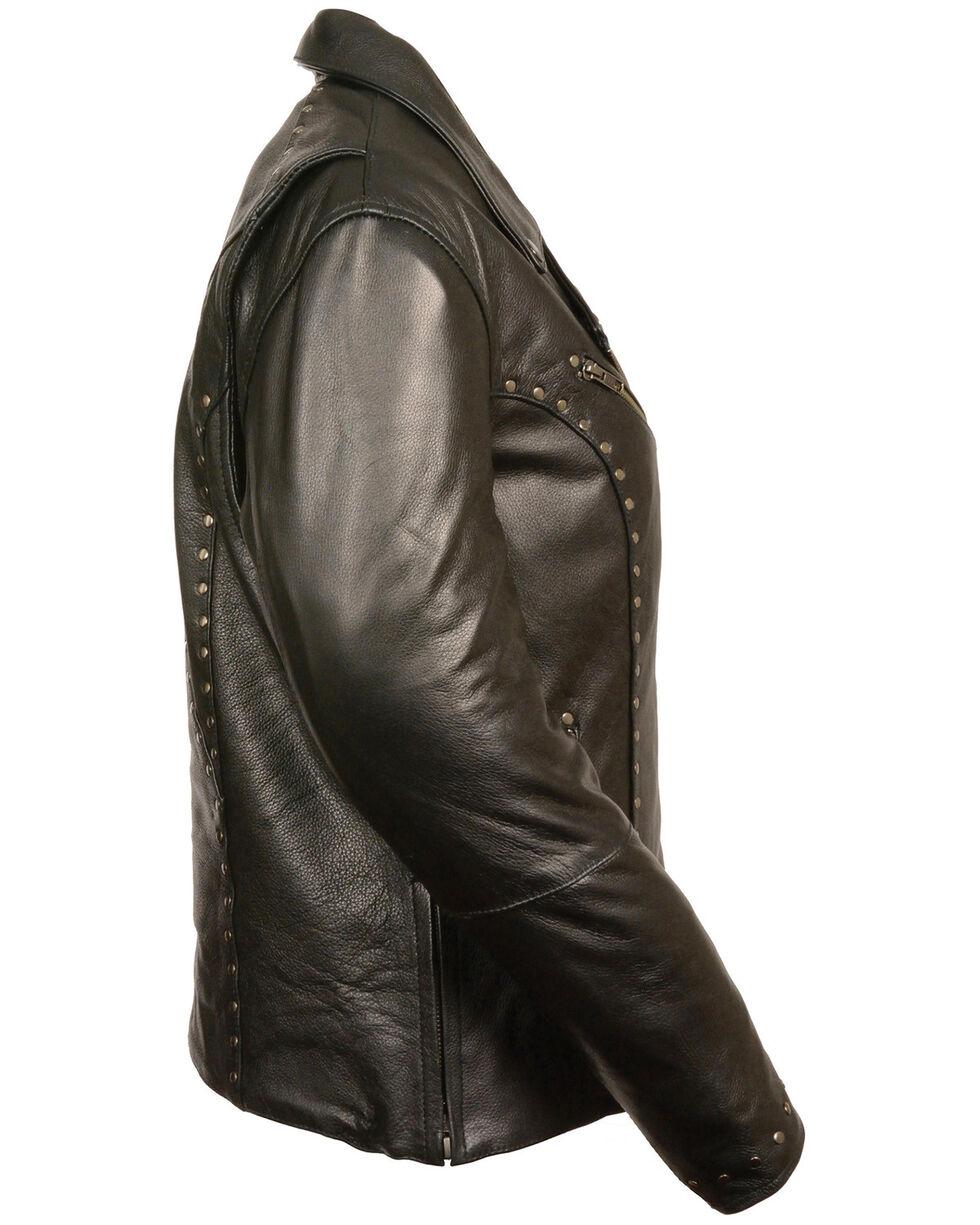 Milwaukee Leather Women's Classic Studded Motorcycle Jacket - 5X, Black, hi-res
