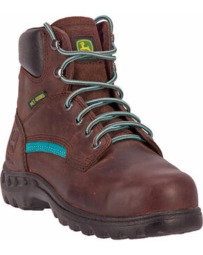 John Deere® Women's Met Guard Work Boots, Brown, hi-res