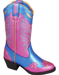 Smoky Mountain Girls' Lila Western Boots - Medium Toe , , hi-res