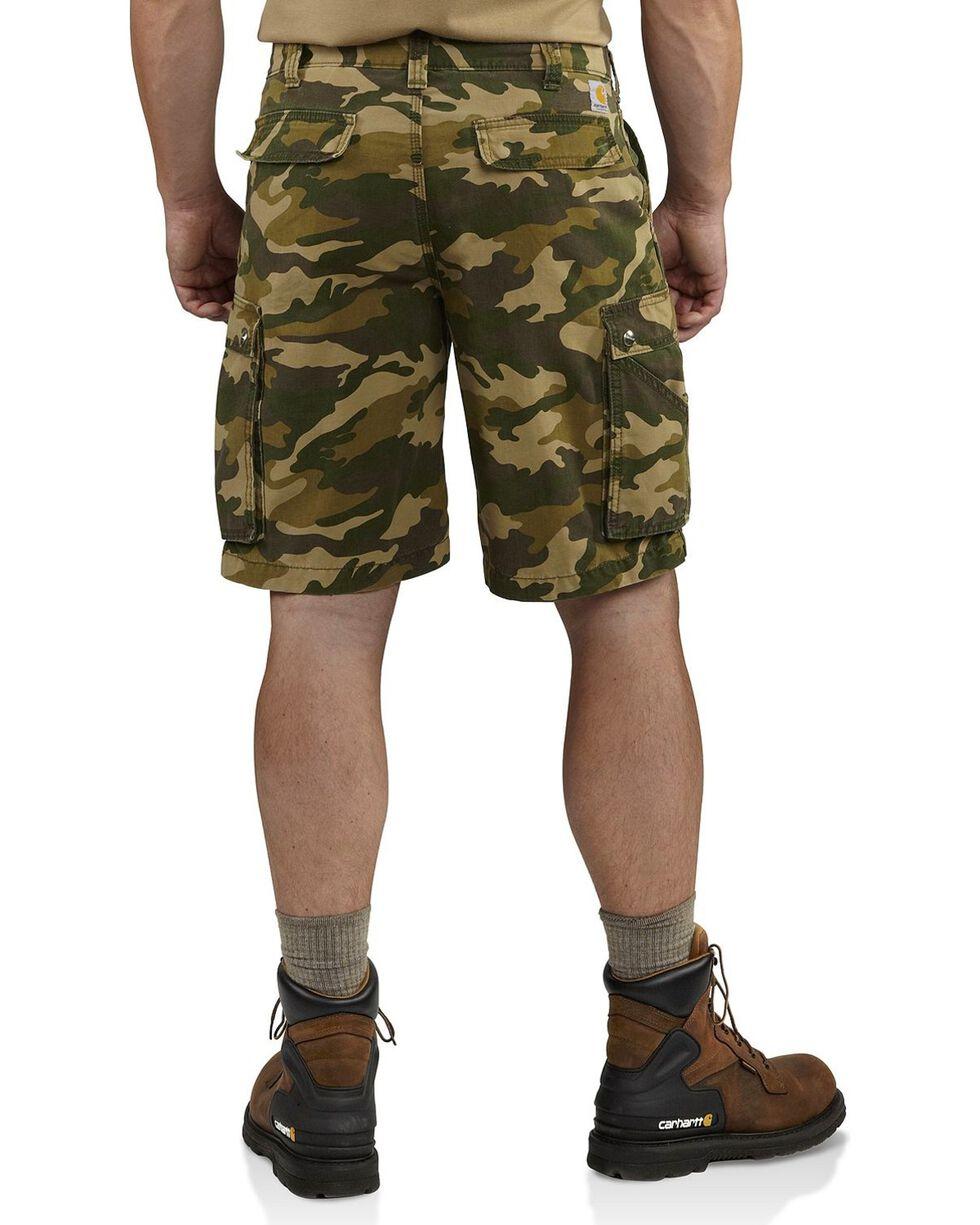 Carhartt Men's Rugged Cargo Camo Shorts, Khaki Camo, hi-res