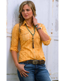 Ryan Michael Women's Tucson Clipped Shirt , , hi-res
