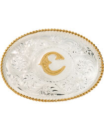 Montana Silversmiths Initial C Western Buckle, , hi-res