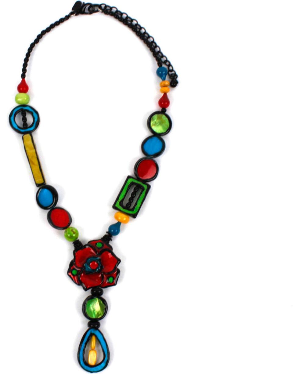 Treska Women's Beaded Y Pendant Necklace, Black, hi-res